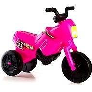Enduro Yupee, kis méretű,lábbal hajható jármű, rózsaszín - Futóbicikli