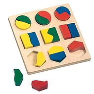 Puzzle Bino Puzzle - geometriai alakzatok - Puzzle