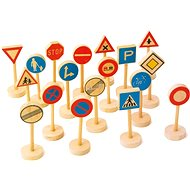 Fa közlekedési táblák gyerekeknek nagy - Játék szett