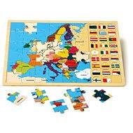 Kirakós puzzle - európai országok - Készségfejlesztő játék