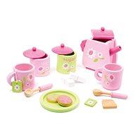 Fa teáskészlet - Rózsaszín - Játék edények