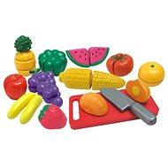 Szeletelt gyümölcsök és zöldségek egy dobozban - Játékszett