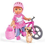 Simba Éva kerékpárral - Játékbaba