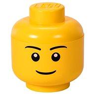 Tárolódoboz LEGO fiú tárolófej (S méret)