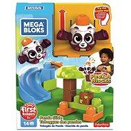Mega Bloks Peek A Blocks Nagy csúszda - erdei panda - Játék szett