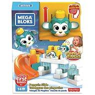 A Mega Bloks Peek a Blocks nagy csúzda - pingvin - Játék szett