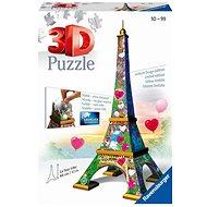 Ravensburger 3D 111831 Eiffel-torony Love kiadás, 216 darabos - 3D puzzle