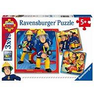 Ravensburger 050772 Sam, a tűzoltó mentés közben, 3x49 darabos - Puzzle