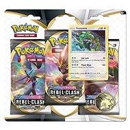 Pokémon TCG: SWSH02 Rebel Clash 3 Blister Booster - Kártyajáték
