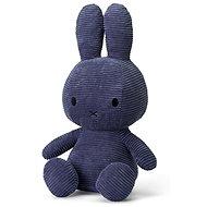 Miffy Sitting Corduroy Blue 33cm - Plüssjáték