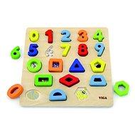 Kirakós játék fából - számok és alakzatok - Kirakós játék