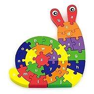 3D puzzle - Csiga betűkkel - Fa kirakós játékok