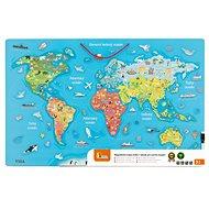Fajáték Fa világtérkép táblával - Dřevěná hračka