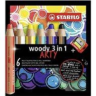"Stabilo ""Woody ARTY 3 in 1"" Színes ceruzák, 6-féle szín, kerek, erős, STABILO - Színes ceruzák"