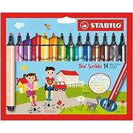 Stabilo Trio Scribbi 14 szín - Filctoll