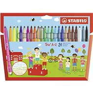 Stabilo Trio A-Z 24 szín - Filctoll
