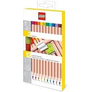 LEGO Színes ceruzák, színkeverék - 12 db LEGO kapoccsal - Színes ceruzák