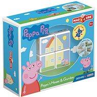 Magicube Peppa Pig Peppa´s House & Garden - Mágneses építőjáték