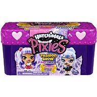 Figura Hatchimals Mini Pixies babák 4 db Bőröndben - lila