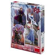 Frozen II 4X54 puzzle Új - Puzzle