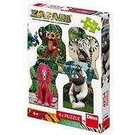 Zafari: Zoomba és a Friends 4X54 új puzzle - Puzzle