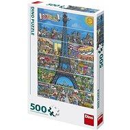 Eiffel-torony rajzfilm 500 puzzle - Puzzle