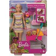 Barbie baba séta a kutyával - Baba