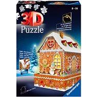 Ravensburger 3D 112371 Mézeskalács házikó (Éjszakai változat) 216 darab - Puzzle
