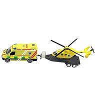 Mentőkészlet + helikopter, fénnyel és hanggal - Tematikus játékszett