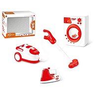 Játék Elemes háztartási gépek készlete (vasaló, mosógép, porszívó) - Hračka