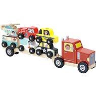 Vilac Fa teherautó egymásra rakható játékautókkal - Fajáték