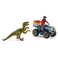 Figurák Schleich 41466 Menekülés a Velociraptor elől quad biciklin