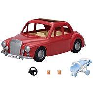 Figura Sylvanian families Piros családi autó babakocsival és gyereküléssel