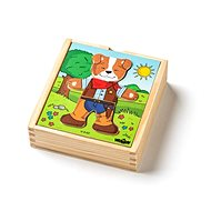 """Puzzle Woody Puzzle szekrény """"Kutya"""", 18 részből áll - Puzzle"""