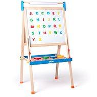 """Woody """"ABC"""" tábla betűkkel, papírtekerccsel és tégellyel - Tábla"""
