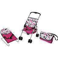 Hauck utazós szett rózsaszín, pöttyös - Kiegészítők babákhoz