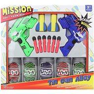 Pisztolyok + üdítős dobozok - Játékfegyver