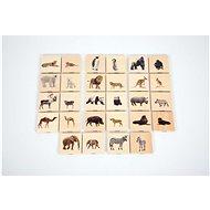 Vadon élő állatok fa memóriajáték - Kreatív játék