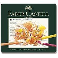 Faber-Castell Polychromos zsírkréták bádogdobozban, 24 szín - Színes ceruzák