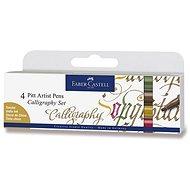 Faber-Castell Pitt Artist Caligraphy marker, 4 természetes színben - Dekormarker
