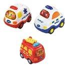 Vtech - 3 járműből álló készlet (mentőautó, tűzoltókocsi, rendőrautó) - HU - Játékautó készlet