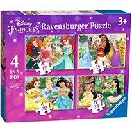 Ravensburger 030798 Disney varázslatos hercegnők 4 az 1-ben - Puzzle