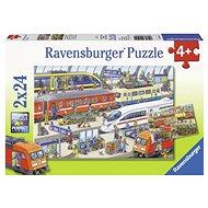 Ravensburger 091911 Vasútállomás 2 x 24 darab - Puzzle