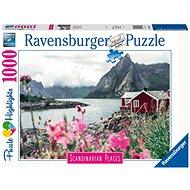 Ravensburger 167401 Skandinávia Lofoten, Norvégia 1000 darab - Puzzle