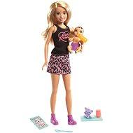 Barbie szőke baba+ baba és kiegészítők