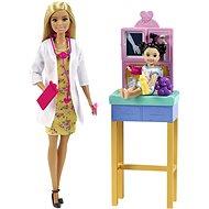 Barbie Foglalkozások - Gyermekorvos - szőke - Játékbaba