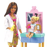 Barbie Foglalkozások - Gyermekorvos - barna - Játékbaba