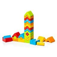 Fajáték Cubika 15016 LD-13 Szett 5 torony - 25 darabos fa építőjáték