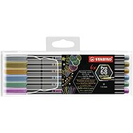 STABILO Pen 68 metallic 6 db műanyag tok - Filctoll