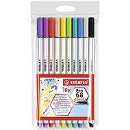 STABILO Pen 68 brush 10 db tok - Filctoll